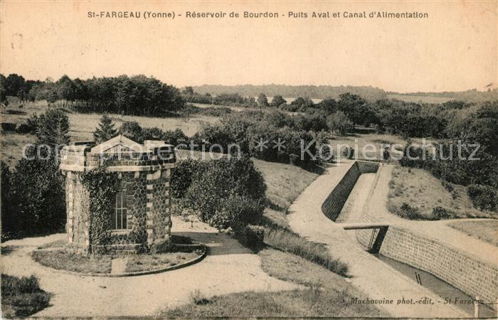 AK / Ansichtskarte Saint Fargeau Yonne Reservoir de Bourdon  Kat. Saint Fargeau