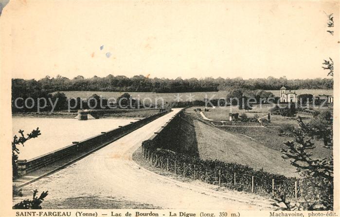 AK / Ansichtskarte Saint Fargeau Yonne Lac de Bourdon Kat. Saint Fargeau