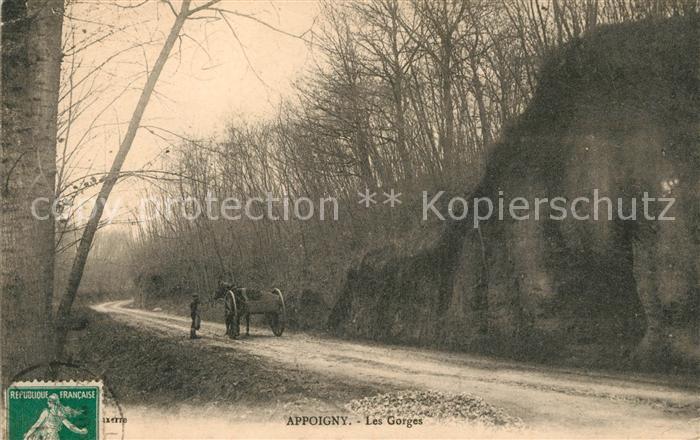 AK / Ansichtskarte Appoigny Les Gorges Pferdwagen Kat. Appoigny