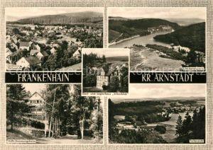 AK / Ansichtskarte Frankenhain Thueringen Luetschetalsperre Gasthaus Silberblick Genesungsheim Kat. Frankenhain Thueringen