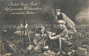AK / Ansichtskarte Militaria Poesie Foto PH Nr. 2969 1 Soldaten Neujahr