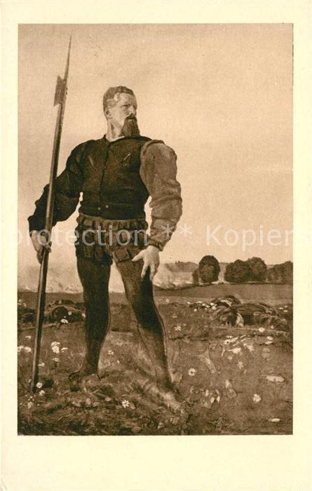 AK / Ansichtskarte Hodler Ferdinand Der zornige Krieger  Kat. Kuenstlerkarte
