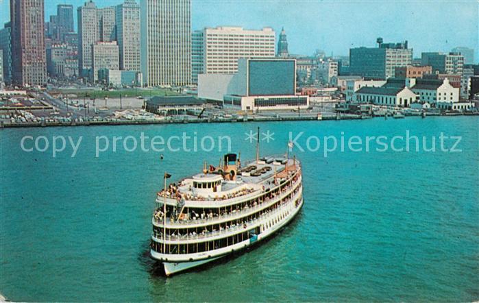 AK / Ansichtskarte Dampfer Schaufelrad Pleasure Ship Columbia Detroit Michigan  Kat. Schiffe