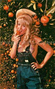 AK / Ansichtskarte Orangen Oranges Florida Frau Erotik  Kat. Landwirtschaft