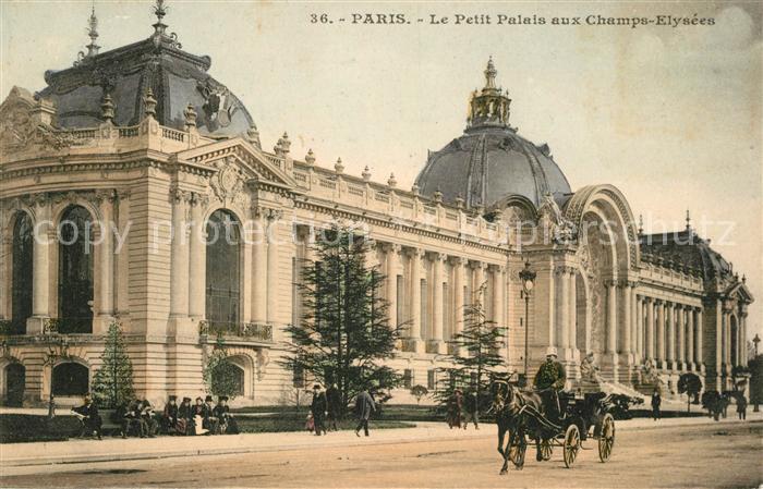 AK / Ansichtskarte Paris Le Petit Palais aux Champs Elysees Kat. Paris