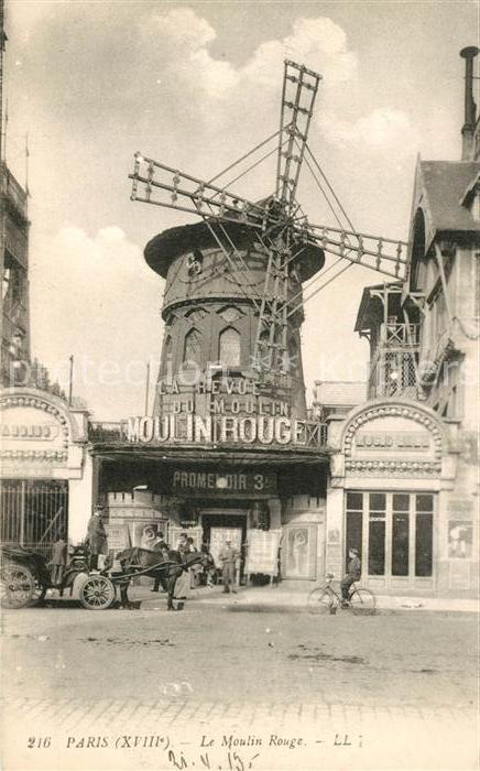 AK / Ansichtskarte Paris Le Moulin Rouge Kat. Paris