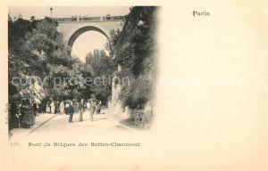 AK / Ansichtskarte Paris Pont de Briques des Buttes Chaumont Kat. Paris