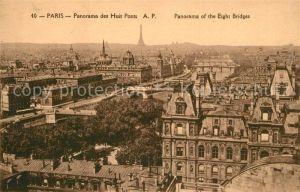 AK / Ansichtskarte Paris Panorama des Huit Ponts Panorama of the Eight Bridges Kat. Paris
