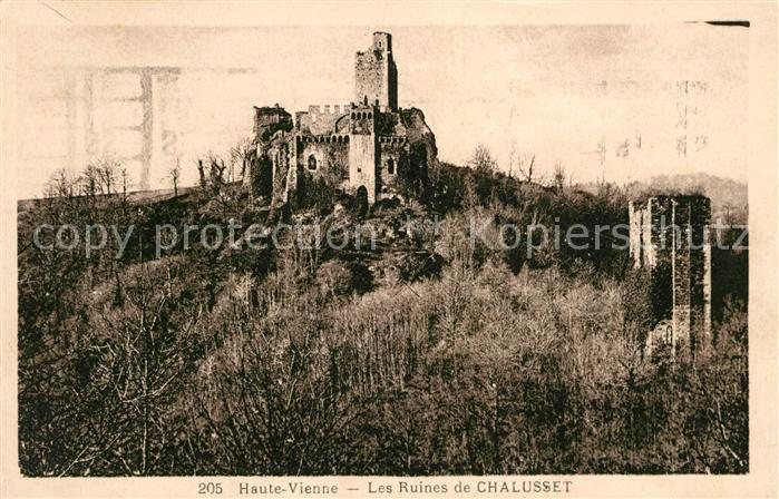 AK / Ansichtskarte Vienne Isere Les Ruines de Chalusset Kat. Vienne