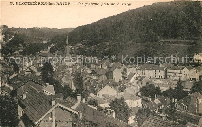 AK / Ansichtskarte Plombieres les Bains Vosges Vue prise de la Vierge Kat. Plombieres les Bains