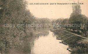 AK / Ansichtskarte Saint Maur Chateauroux Quai de Champignolle et la Marne Kat. Saint Maur