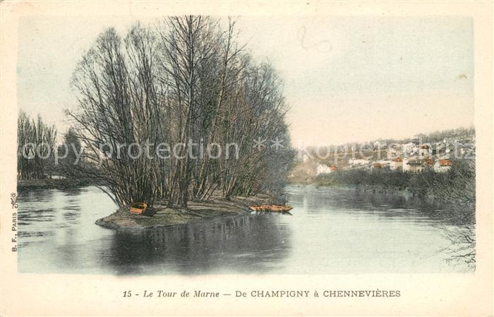 AK / Ansichtskarte Champigny Marne Tour de Marne Chennevieres Kat. Champigny