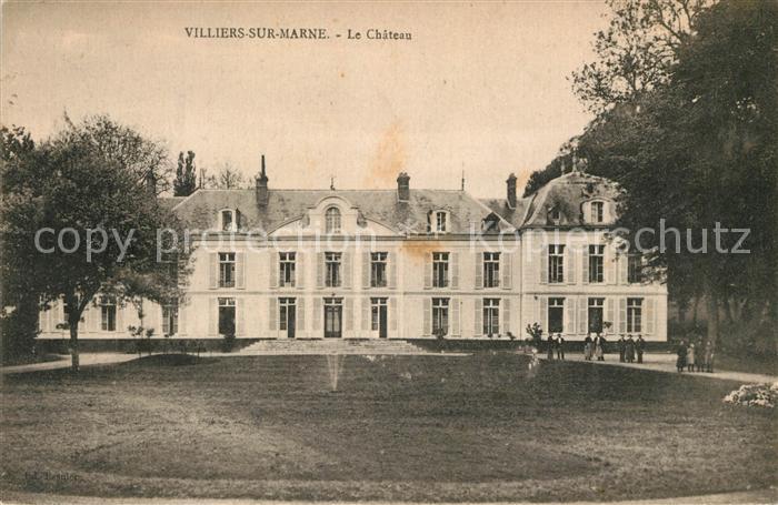 AK / Ansichtskarte Villiers sur Marne Chateau Kat. Villiers sur Marne