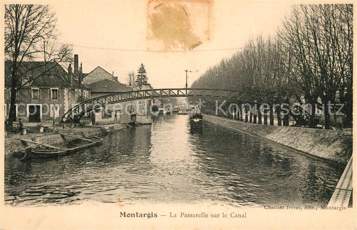 AK / Ansichtskarte Montargis Loiret La Passerelle sur le Canal Kat. Montargis