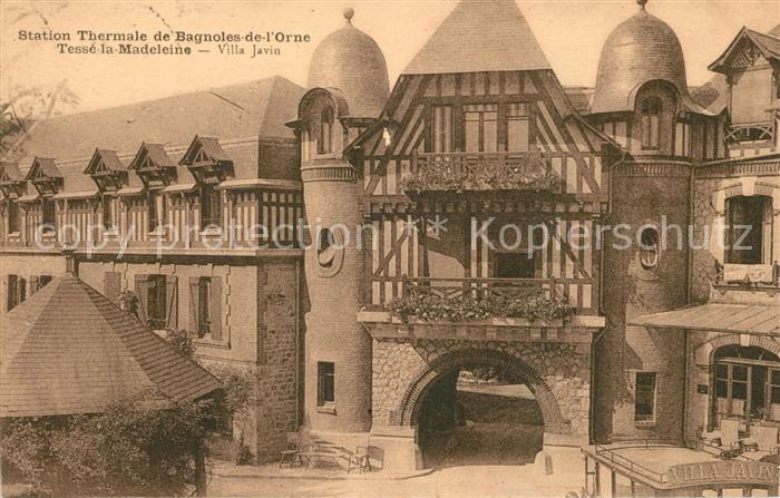 AK / Ansichtskarte Bagnoles de l Orne Station Thermale Tesse la Madeleine Villa Javin Kat. Bagnoles de l Orne