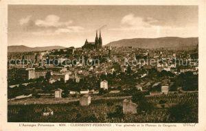 AK / Ansichtskarte Clermont Ferrand Puy de Dome Vue generale et le Plateau de Gergovia Kat. Clermont Ferrand
