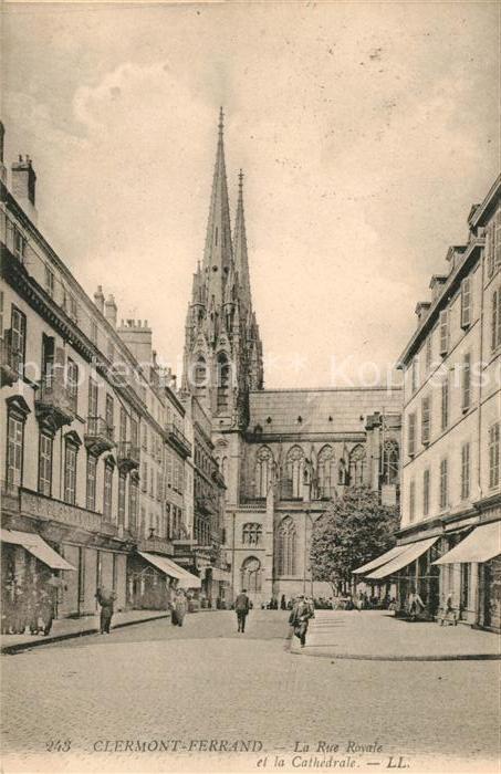 AK / Ansichtskarte Clermont Ferrand Puy de Dome La Rue Royale Kat. Clermont Ferrand