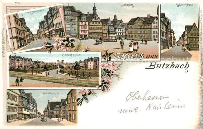 AK / Ansichtskarte Butzbach Marktplatz Zellen Strafanstalt Kat. Butzbach