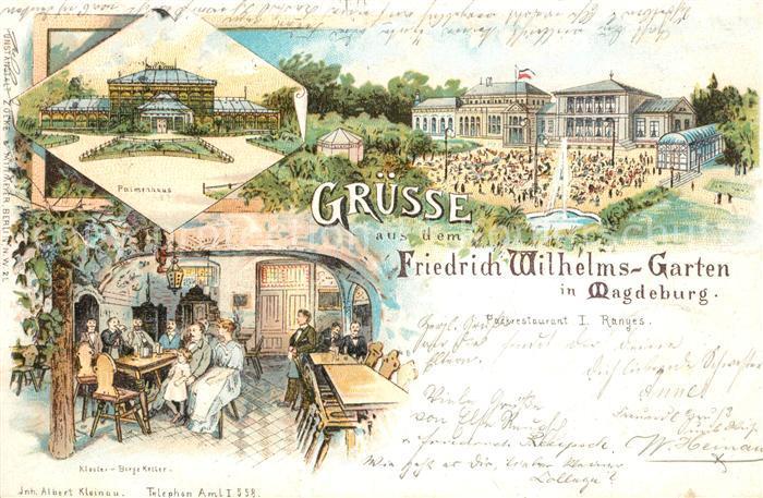 AK / Ansichtskarte Magdeburg Friedrich Wilhelms Garten Palmenhaus Kat. Magdeburg