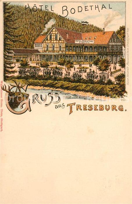 AK / Ansichtskarte Treseburg Thale Hotel Bodethal