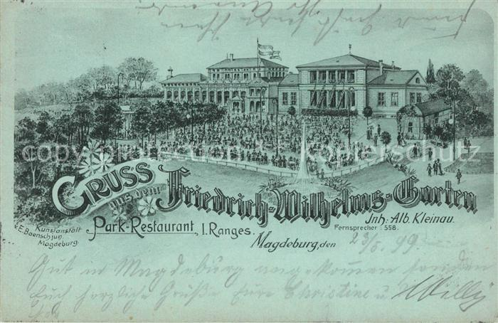 AK / Ansichtskarte Magdeburg Friedrich Wilhelms Garten  Kat. Magdeburg