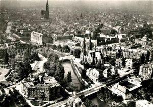 AK / Ansichtskarte Strasbourg Alsace Fliegeraufnahme Eglise St Paul Cathedrale Kat. Strasbourg