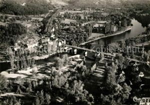 AK / Ansichtskarte Beaulieu sur Dordogne Fliegeraufnahme Dordogne et Atillac Kat. Beaulieu sur Dordogne