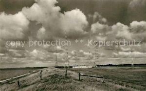 AK / Ansichtskarte Norddeich Ostfriesland Seedeich mit Funkstation Kat. Norden