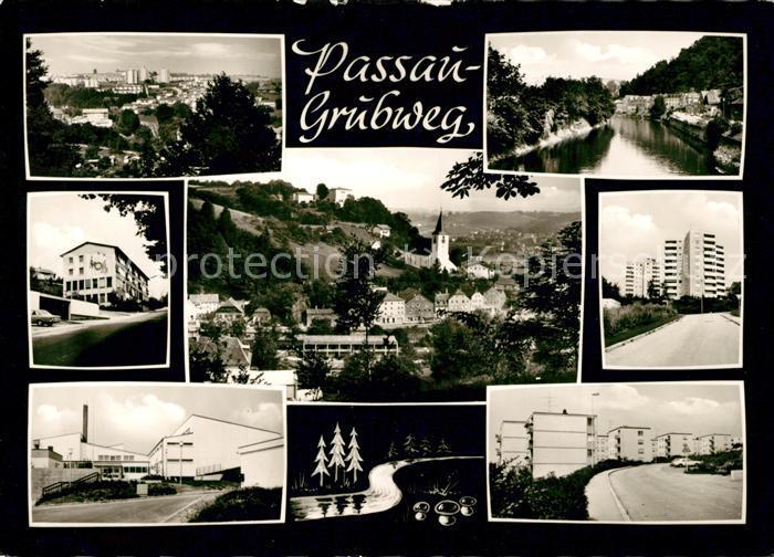 AK / Ansichtskarte Grubweg Passau Teilansichten Siedlung Hochhaeuser