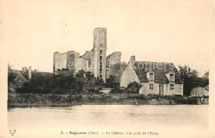 AK / Ansichtskarte Sagonne Chateau vue prise de l`Etang Kat. Sagonne