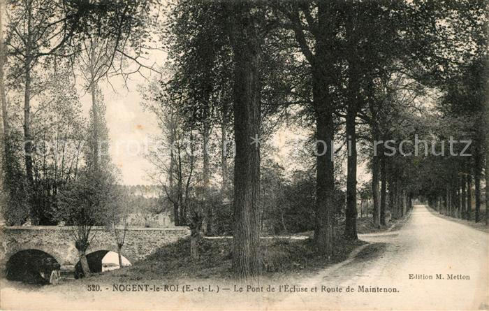 AK / Ansichtskarte Nogent le Roi Pont de l`Ecluse et Route de Maintenon Kat. Nogent le Roi