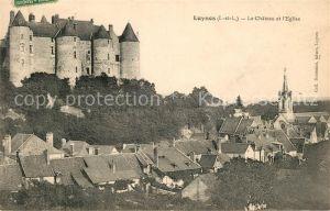 AK / Ansichtskarte Luynes Indre et Loire Chateau et Eglise
