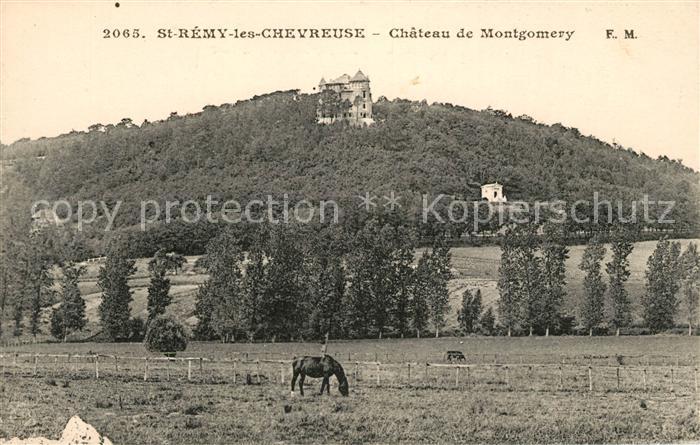 AK / Ansichtskarte Saint Remy les Chevreuse Chateau de Montgomery Pferde Kat. Saint Remy les Chevreuse