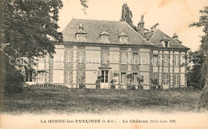 AK / Ansichtskarte La Queue les Yvelines Chateau Kat. La Queue les Yvelines
