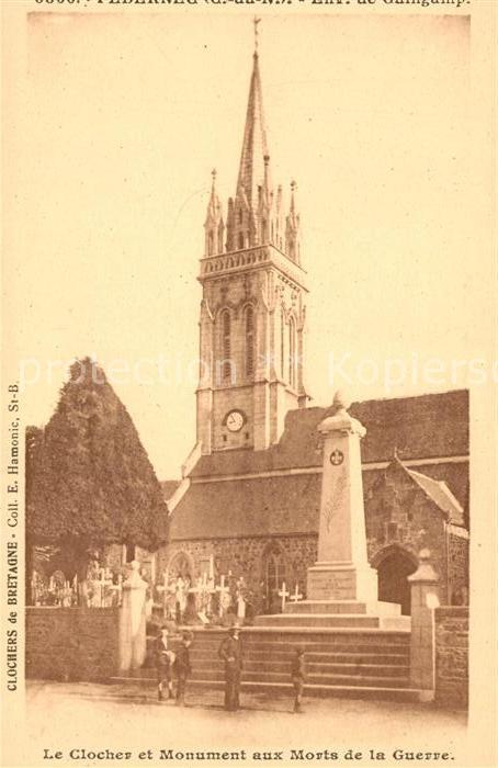 AK / Ansichtskarte Bretagne Region Le Clocher et Monument aux Morts de la Guerre Kat. Rennes
