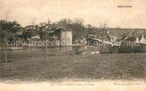 AK / Ansichtskarte Bretagne Region Vieux Chateau et etang de Corlay Kat. Rennes