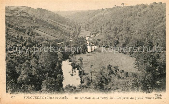 AK / Ansichtskarte Tonquedec Vue generale de la Vallee du Guer prise du grand Donjon Kat. Tonquedec
