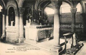 AK / Ansichtskarte Saint Maixent de Beugne Interieur de l'Eglise Tombeau de St Maixent et de St Leger Kat. Saint Maixent de Beugne