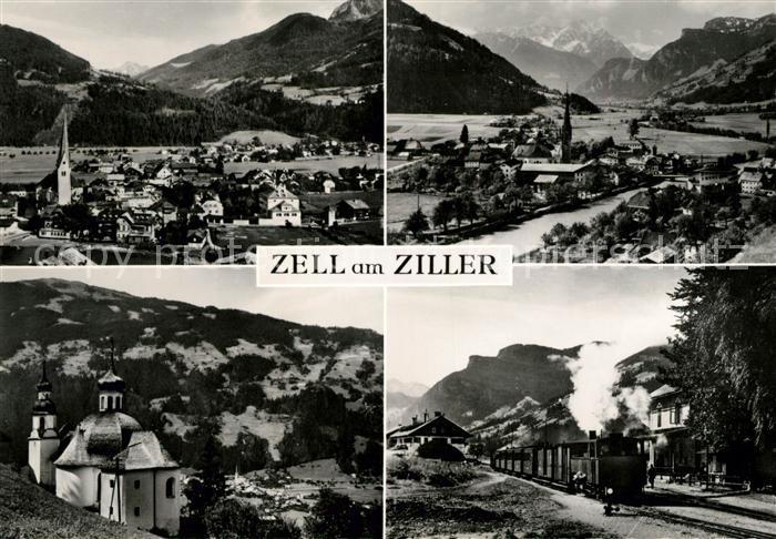 AK / Ansichtskarte Zell Ziller Tirol Kirche Eisenbahn Kat. Zell am Ziller