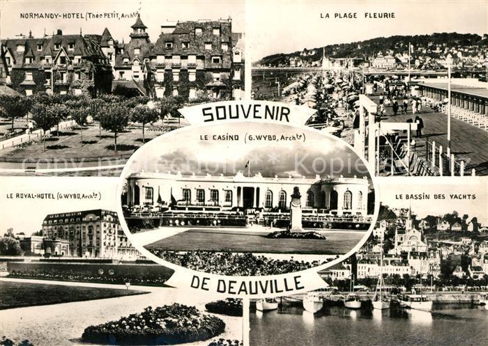 AK / Ansichtskarte Deauville Casino Bassin des Yachts Plage Fleurie Kat. Deauville