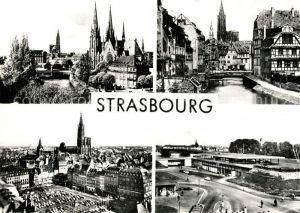 AK / Ansichtskarte Strasbourg Alsace Eglise St. Paul Place Kleber Kat. Strasbourg
