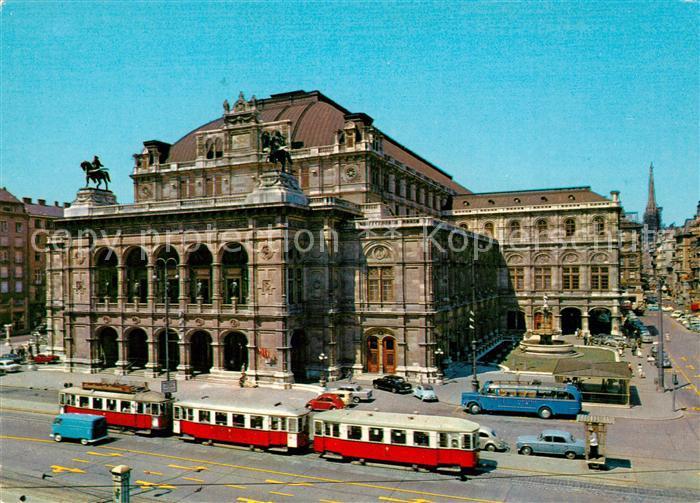 AK / Ansichtskarte Strassenbahn Wien Oper  Kat. Strassenbahn