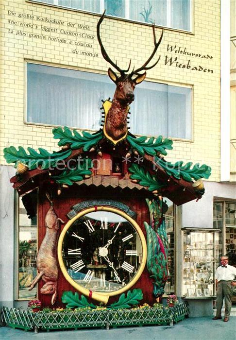 AK / Ansichtskarte Uhren Kuckucksuhr Wiesbaden  Kat. Technik