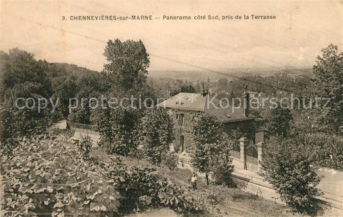 AK / Ansichtskarte Chennevieres sur Marne Panorama cote Sud pris de la Terrasse Kat. Chennevieres sur Marne