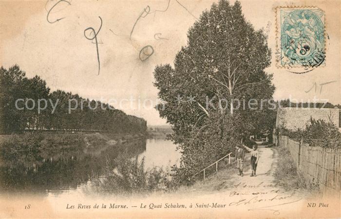 AK / Ansichtskarte Saint Maur Creteil Les Reves de la Marne Le Quai Schaken a Saint Maur