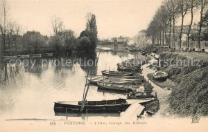 AK / Ansichtskarte Pontoise  Val d Oise Garage des Bateaux Kat. Pontoise