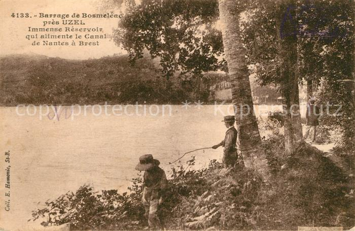 AK / Ansichtskarte Uzel Barrage de Bosmeleac Immense Reservoir qui alimente le Canal de Nantes a Brest Kat. Uzel