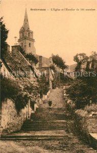 AK / Ansichtskarte Brelevenez Eglise et l'Escalier de 144 marches Kat. Lannion