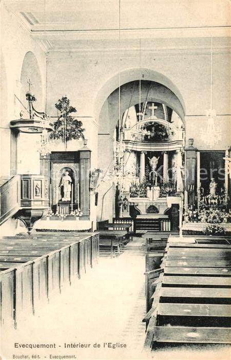 AK / Ansichtskarte Evecquemont Interieur de l Eglise Kat. Evecquemont