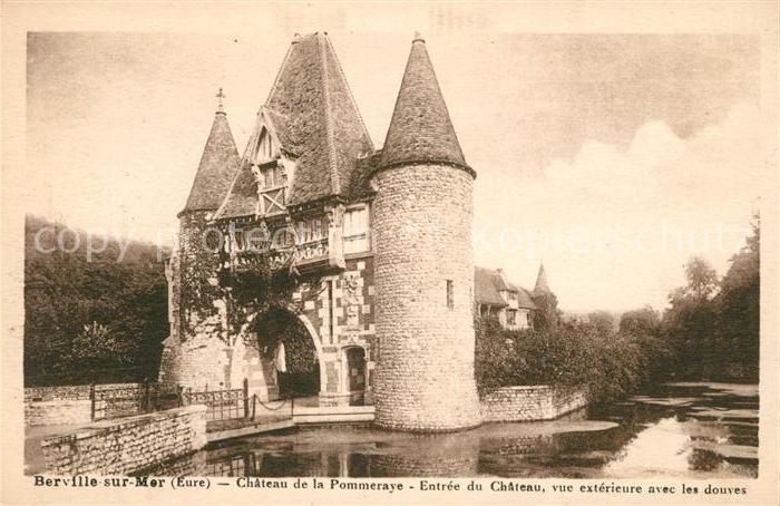 AK / Ansichtskarte Berville sur Mer Chateau de la Pommeraye Entree du Chateau  Kat. Berville sur Mer
